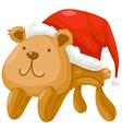 Teddy bear Christmas vector image
