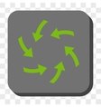 Swirl Arrows Rounded Square Button vector image