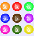 Kangaroo Icon sign Big set of colorful diverse vector image