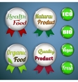 Organic labels badges and stickers from glass vector image vector image