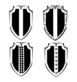 vintage shield 2 vector image