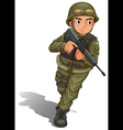 A brave soldier fighting vector image vector image