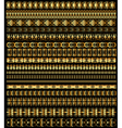 set of borders ornament vector image vector image