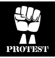 Raised fist sign of protest and revolution vector image vector image