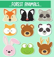 0003 animals face vector image vector image