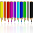 pencil objects vector image vector image