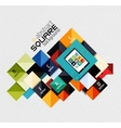 Geometric square shapes and infographic option vector image vector image