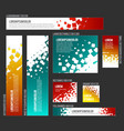 banner templates collection with abstract square vector image