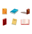book icon set cartoon style vector image