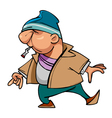 cartoon character guy thug with a cigarette vector image