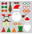 Christmas photo booth set vector image