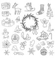 christmas set icon elements can be used for advent vector image