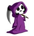 cute grim reaper vector image