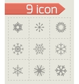 snowflake icon set vector image