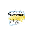 Summer Adventure Message Watercolor Stylized Label vector image