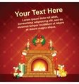 Card Background wit Christmas Decorative Fireplace vector image vector image