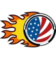 american flag on fire vector image vector image