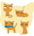 Funny cats vector image vector image