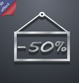 50 discount icon symbol 3D style Trendy modern vector image
