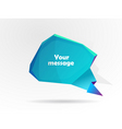 message bubble vector image