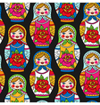 pattern dolls vector image