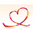 streamer heart vector image
