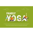 Concept of family with kids doing vector image