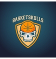 Basket Skulls Abstract Basketball Logo vector image