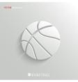 Basketball icon - white app button vector image