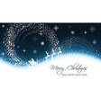 Christmas greeting card with snowfall snowflakes vector image