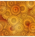 Golden iron gearwheels technology backdrop vector image