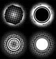 halftone circle patterns vector image