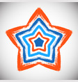 hand drawn star vector image