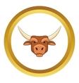 Head of bull icon vector image