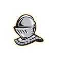 Knight Helmet Woodcut vector image