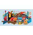 Jazz Music Instruments Background vector image