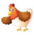 A big fat hen vector image