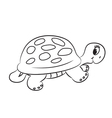 Cartoon turtle vector image vector image