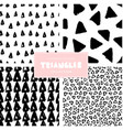 Triangles pattern collection vector image