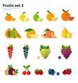 Healthy Concept Tropical Fruit on White Background vector image