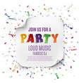 Party poster or background template vector image