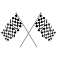 checkered racing flags vector image vector image