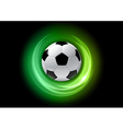 football neon light dark green vector image vector image