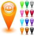 Smiley button vector image vector image