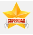 Super dad badge with ribbon vector image