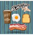 Classic breakfast motel advertisement retro poster vector image