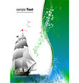 cover for brochure with old sailing vessel vector image