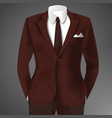 elegant man suit vector image