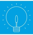 Lightbulb thin line icon vector image