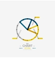 Line graph chart icon vector image